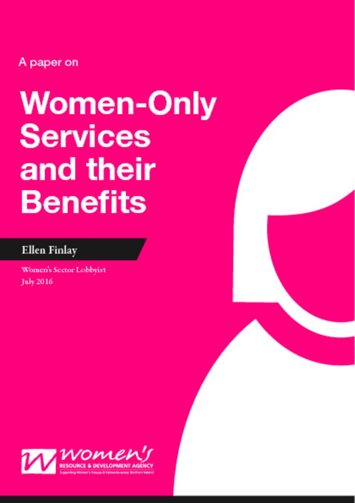 thumbnail of Why women only services