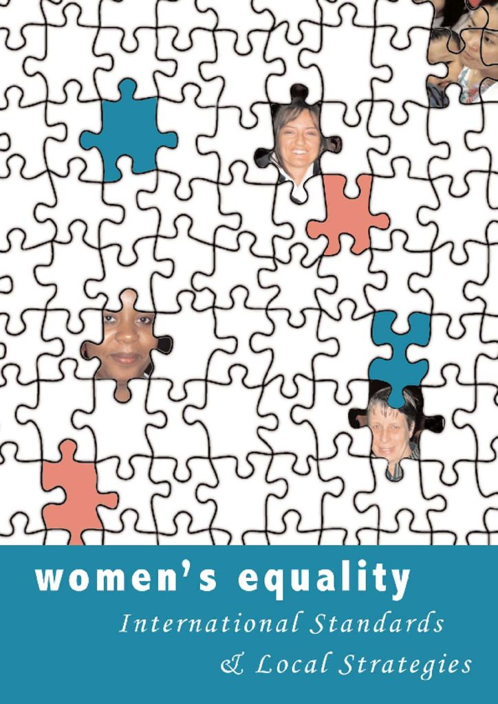 thumbnail of Women's Equality International Standards & Local Strategies. Ad Hoc Policy Group. Sept '05