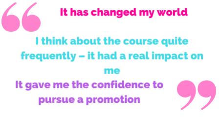 It changed my world.