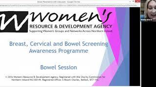 A still image from the bowel awareness webinar.