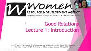 Good Relations Lecture 1