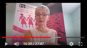Breast awareness webinar still.
